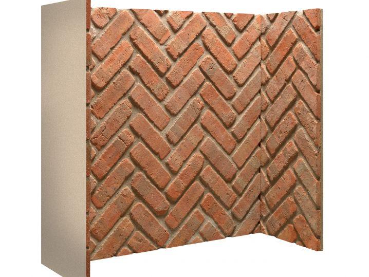 Rustic brick herringbone chamber