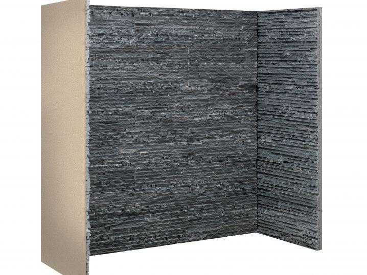 Charcoal slate waterfall chamber