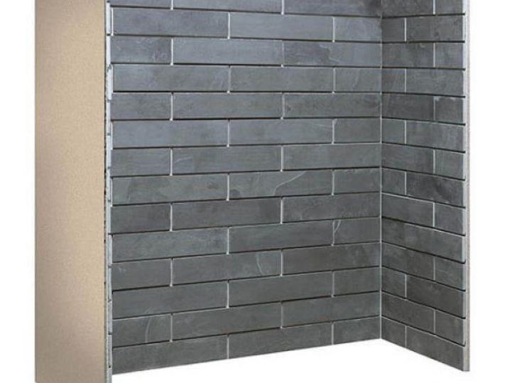 Porcelain slate brickbond chamber