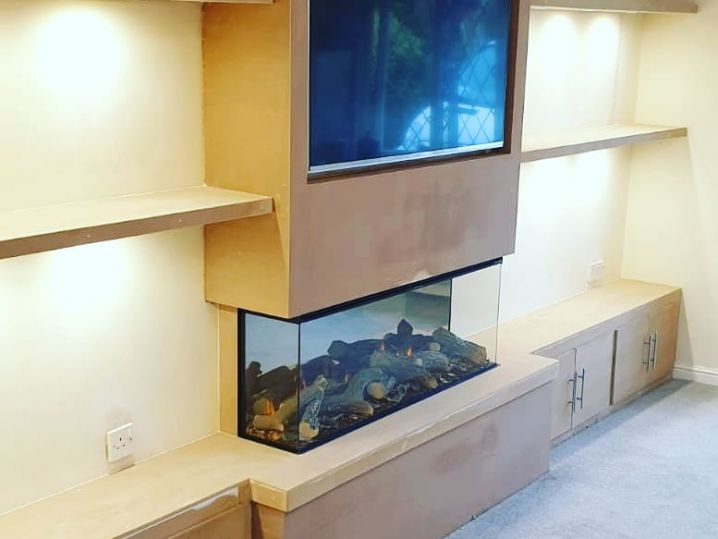 Integrated Base Units & Shelving With Lights